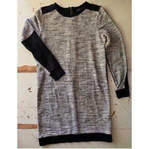 Zara W&B : tweed color block shift dress